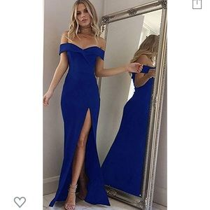 NWT Off Shoulder Slim Evening Maxi Party Dress